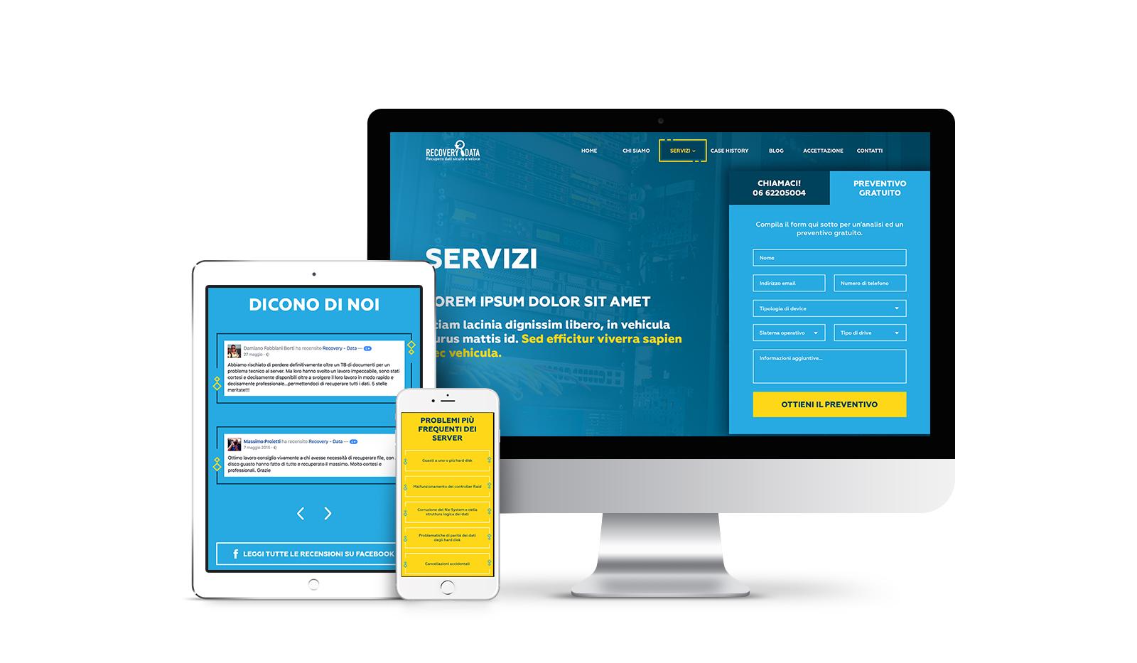 Consulenza Web Marketing per azienda recupero dati