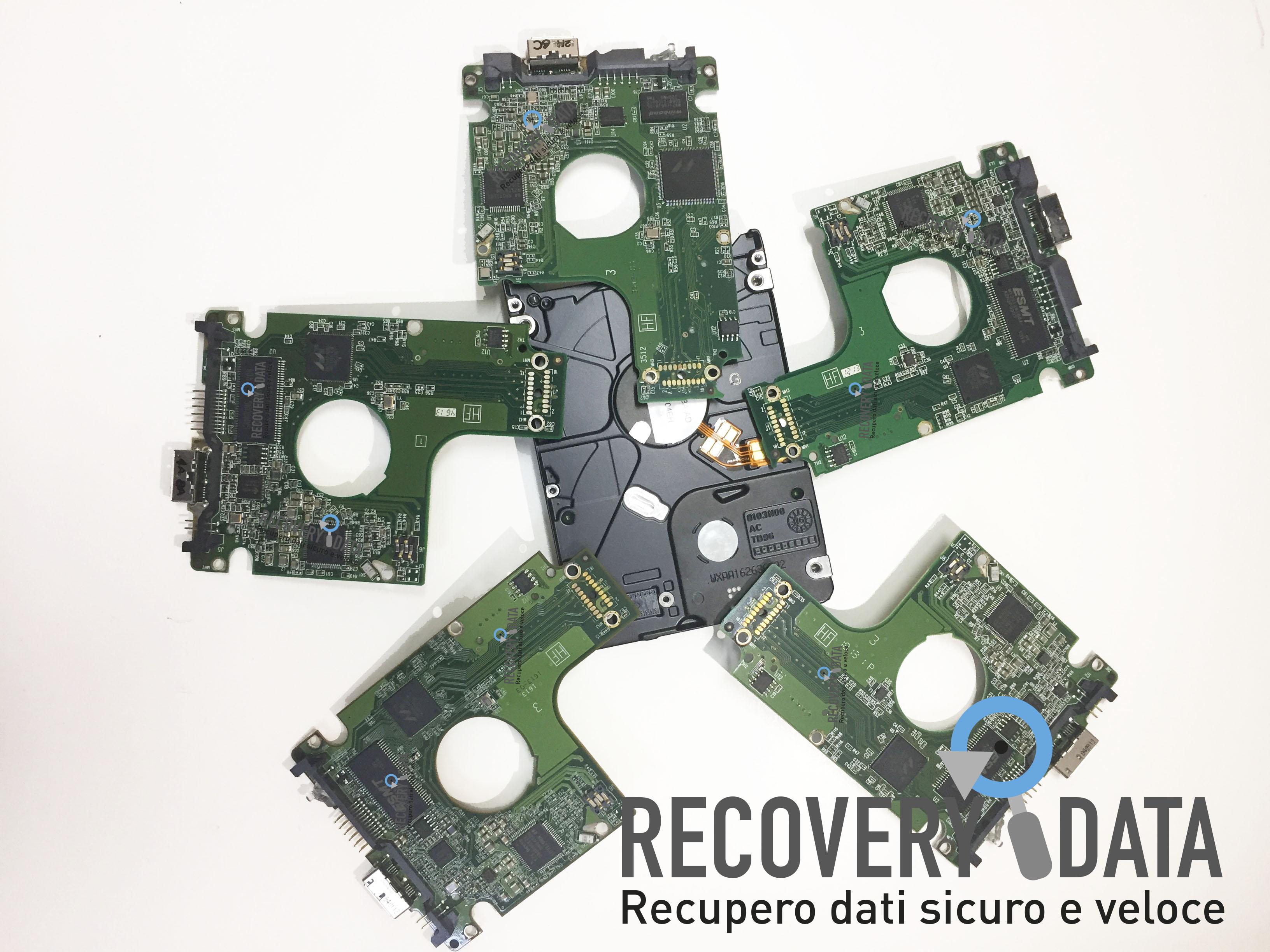recupero dati hard disk con pcb scambiata